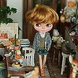 ラコステ 財布 (ドーリア)Dollia ブライス 1/6ドール用 アウトフィット 千鳥格子 ジャケット テーラード シングル ネオブライス ドール 人形 (グレー)