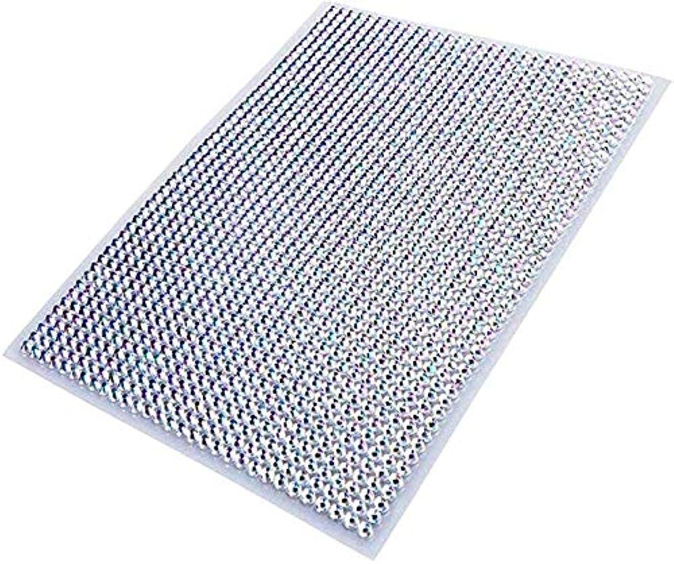 せせらぎハム静かにLOKIPA ラインストーン シール ネイル用 5mm 1500粒入り 白色 ダイアモンド デコレーション 輝き 人工ダイヤモンド 大容量