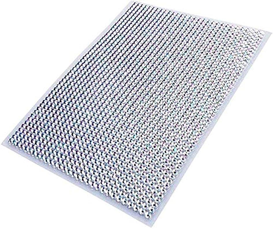 軌道ウガンダ講師LOKIPA ラインストーン シール ネイル用 5mm 1500粒入り 白色 ダイアモンド デコレーション 輝き 人工ダイヤモンド 大容量