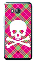 SECOND SKIN スカルパンク ピンク (クリア) / for HTC U11 HTV33・601HT/au・SoftBank AHTV33-PCCL-201-Y218