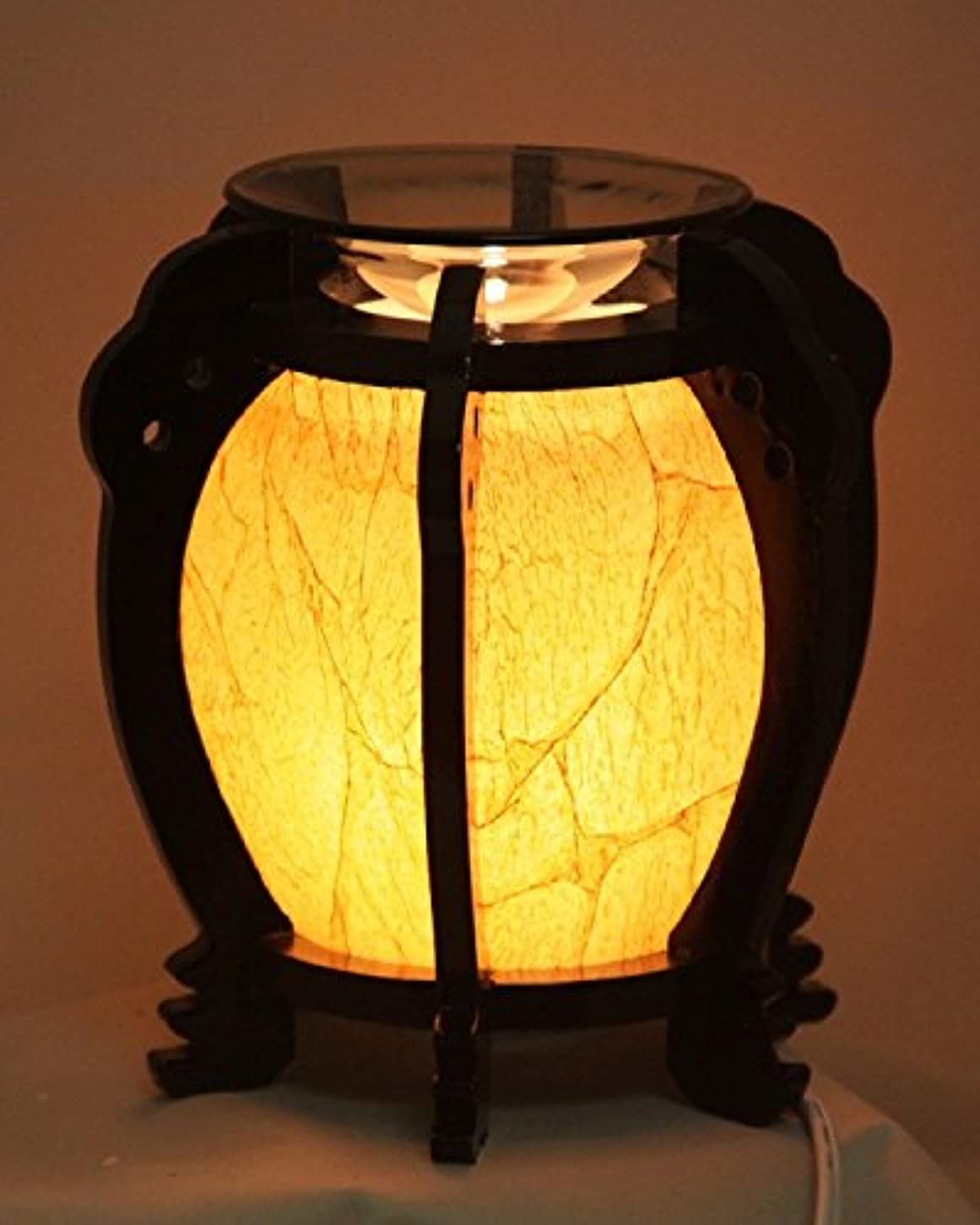 ラフ睡眠縮約ペグ木製ラウンド( ew-647 ) Electric Fragrance Oil Tart Warmer ( Burner / Warmer /ランプ) withディマースイッチ