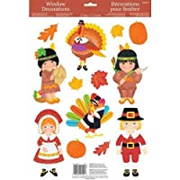 Amscan Thanksgivng Vinyl Window Clings 13 Pcs by Amscan