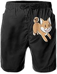 メンズかわいい柴犬 ビーチパンツ 水着 ハーフスイムウェアサーフパンツ ボードショーツ 水陸両用 吸汗速乾