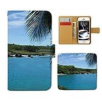スマホケース 手帳型 SCV33 Galaxy S7 edge 海 手帳 ケース カバー 夏 海水浴 海岸 サマー マリン D0151010087001
