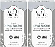 Earth Mama Organic Herbal Sitz Bath for Pregnancy and Postpartum, 2-Pack of 6
