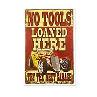 工具はここに貸された 金属スズヴィンテージ安全標識警告サインディスプレイボードスズサインポスター看板建設現場通りの学校のバーに適した
