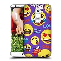 オフィシャル Emoji ハッピー・フェイス フラット ソフトジェルケース LG G2 / D800 / D802 / D801