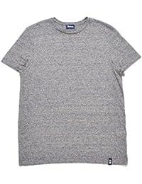Drumohr ドルモア [春夏] Tシャツ 半袖 リネン100% めくらじまボーダー ネイビー