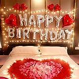 誕生日 バルーン HAPPY BIRTHDAY 風船 飾り付け セット パーティー 装飾 風船 リボン 花びら 付き J035