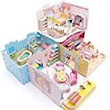 Pretty Dream House 3D Puzzle Dollhouse, The Best DIY Gift for Children, Toys Game