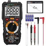 Tacklife DM01M テスター 6000カウント 真の実効値測定 手動レンジ 電流・電圧・抵抗・温度・キャパシタンス・ダイオード・周波数・導通テスター 非接触電圧測定 LED/警告音