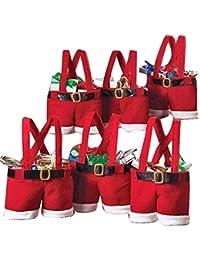 barelove Dreamy家のセット6サンタパンツギフト& Treatバッグクリスマスキャンディバッグsd-2 – 1 レッド