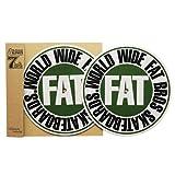 FATBROS / 7インチ用 Dr.Suzuki x Fatbros SLIPMATS (2枚入)  [ファットブロス] スリップマット (Olive)