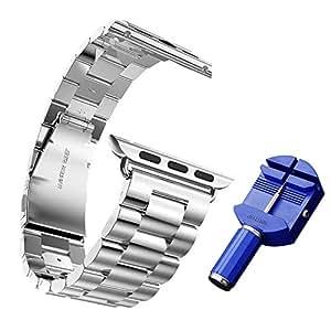 アップルウォッチ用 交換バンド 高級ステンレス ベルト For apple watch 42mm 交換リストバンド AWATCH-HC03-42-W50508