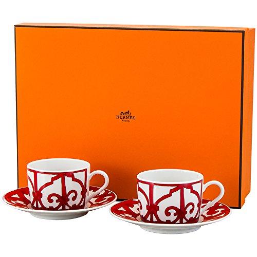 Hermes [ エルメス ] ガダルキヴィール Tea cup and saucer ティーカップ&ソーサー 160ml 011016P 2個セット 新生活 [並行輸入品]