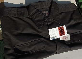 カセヤマ 手甲シャツ 51-613 13 スミクロ L