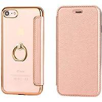 iPhone6 ケース / iPhone6s ケース アイフォン 6 / 6s 用 ケース 手帳型 レザー 多機能 エラー防止シート付 ネイビー アイフォン用財布 (ピンク, iphone6/6s)