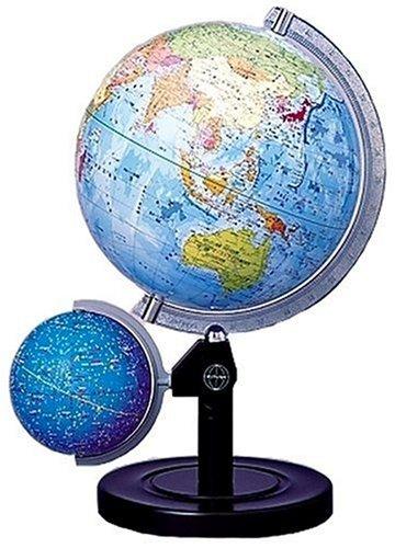 クツワ プラスチック 地球儀(行政図) 球径26cm GL263W