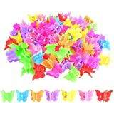 100 Packs Assorted Color Butterfly Hair Clips, Bantoye Girls Beautiful Mini Butterfly Hair Clips Hair Accessories for Girls and Women, Random Color