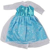 Lovoski 可愛い 人形 スパンコール ドレス  18インチ アメリカンガールドール対応