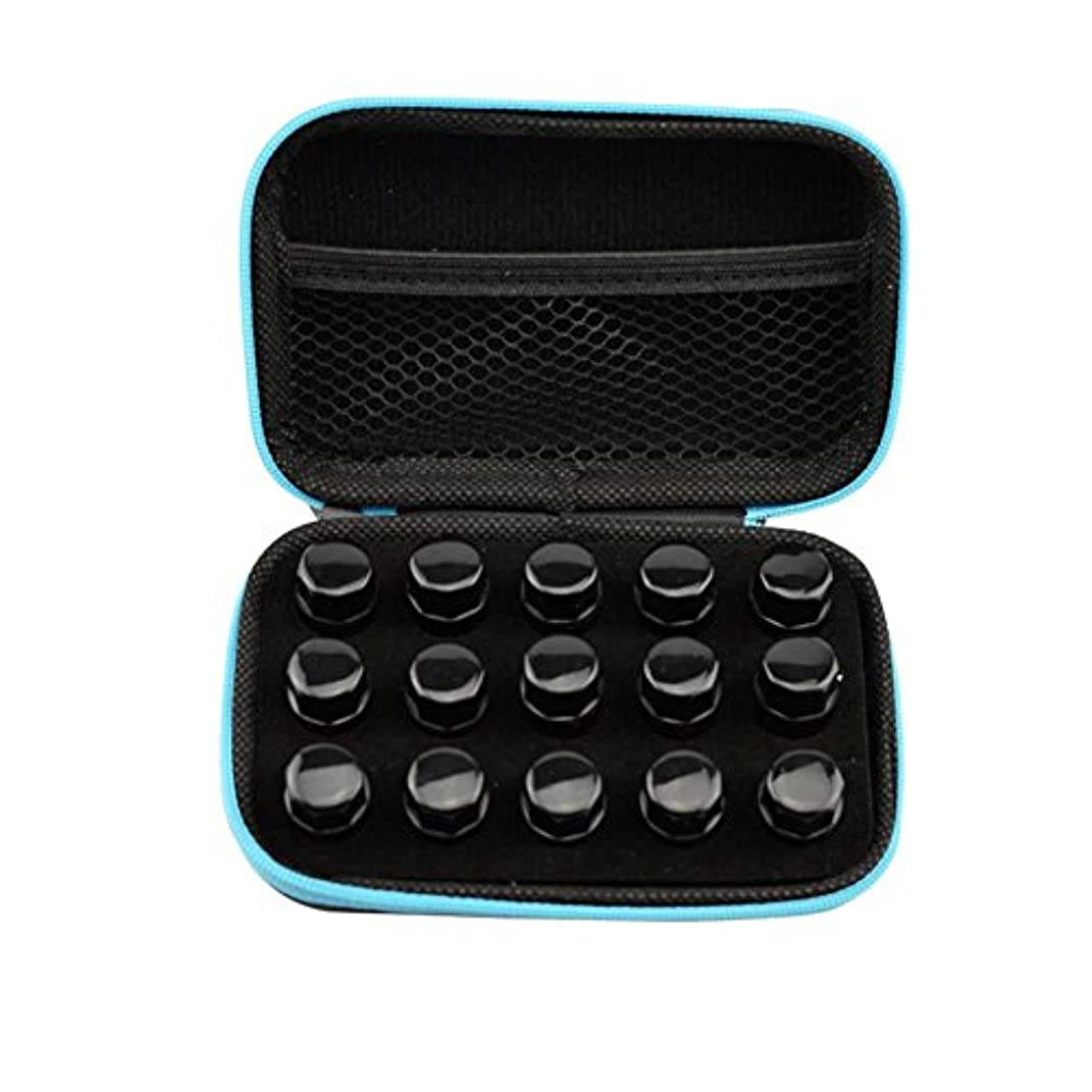 練習した結婚式固執Farlong アロマポーチ エッセンシャルオイル ケース 携帯用 アロマケース メイクポーチ 精油ケース 大容量 アロマセラピストポーチ 15本の精油貯蔵袋1ML2ML3ML