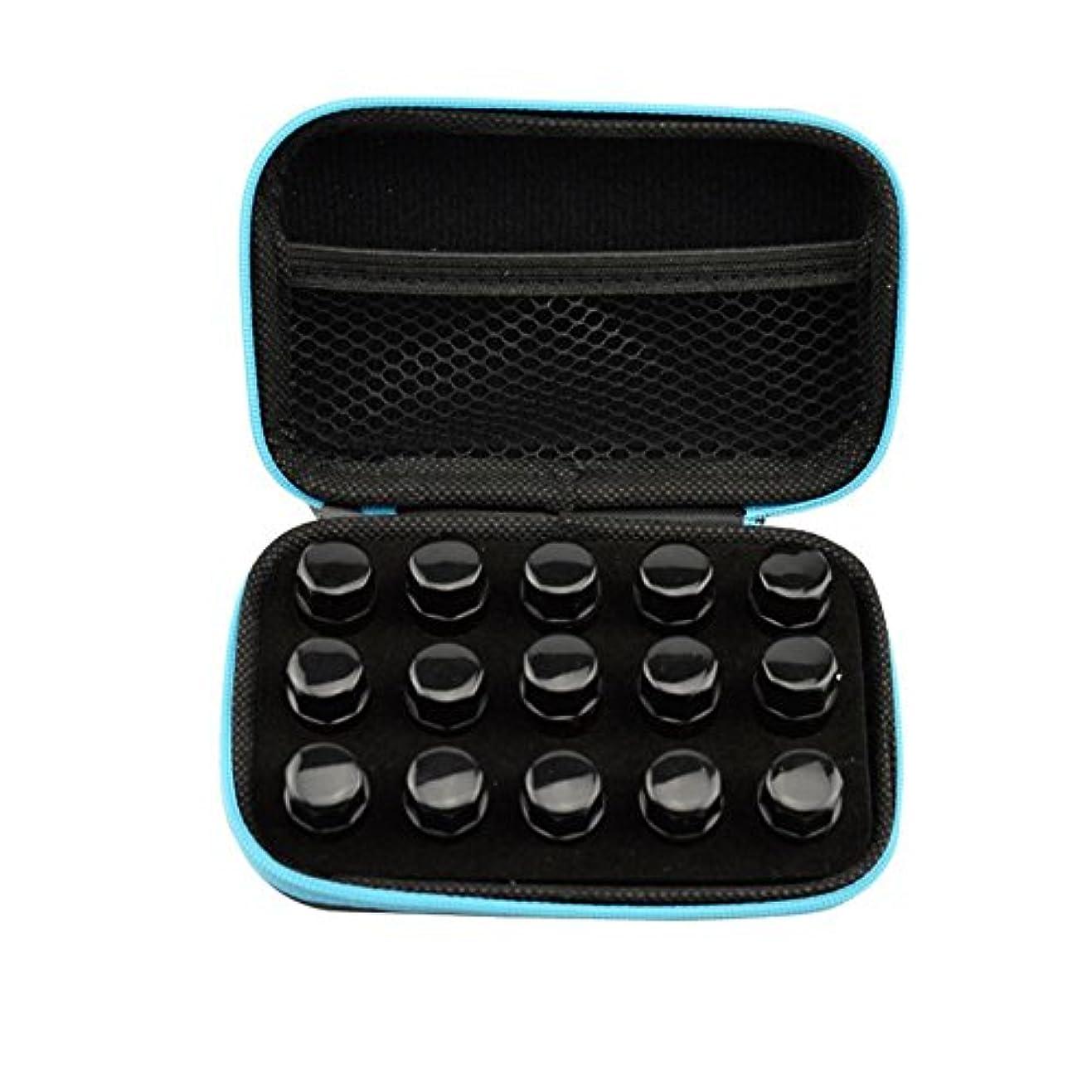 司法テント選択するFarlong アロマポーチ エッセンシャルオイル ケース 携帯用 アロマケース メイクポーチ 精油ケース 大容量 アロマセラピストポーチ 15本の精油貯蔵袋1ML2ML3ML