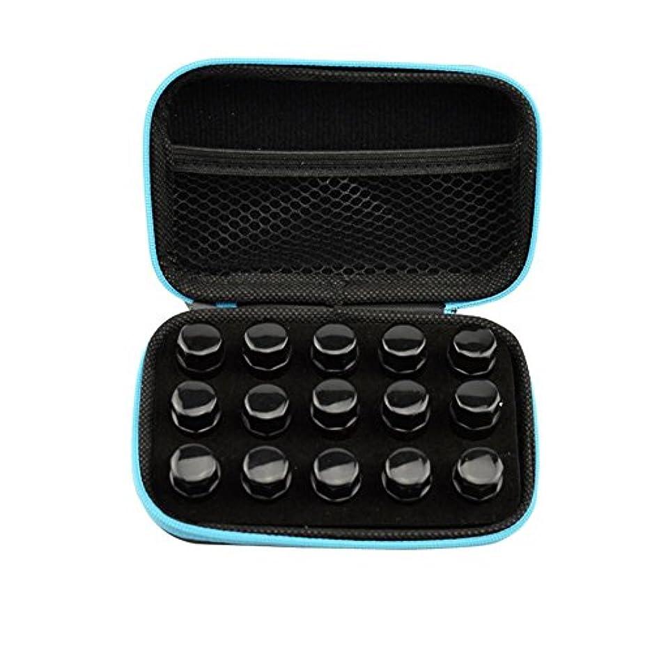 貧しい系統的選出するFarlong アロマポーチ エッセンシャルオイル ケース 携帯用 アロマケース メイクポーチ 精油ケース 大容量 アロマセラピストポーチ 15本の精油貯蔵袋1ML2ML3ML