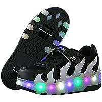 Nsasy Big Boys' PU Roller Skate Shoes