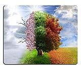 天然ゴムのマウスパッド四季の木の写真操作魔法のnature3