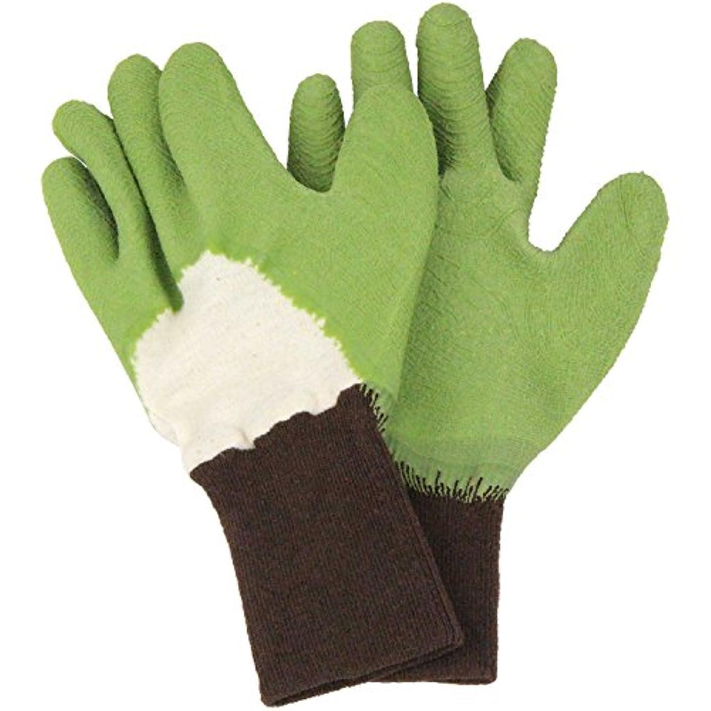 時系列どれでも温度計セフティー3 トゲがささりにくい手袋 グリーン S