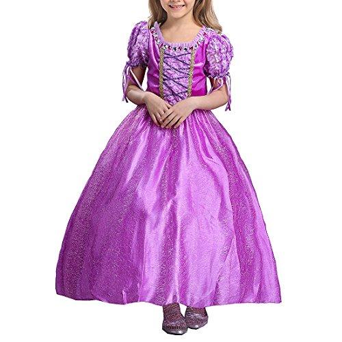 d1162024f2b7a ラプンツェル ドレス 子供用 塔の上のラプンツェル パープル プリンセス ドレス (パープル