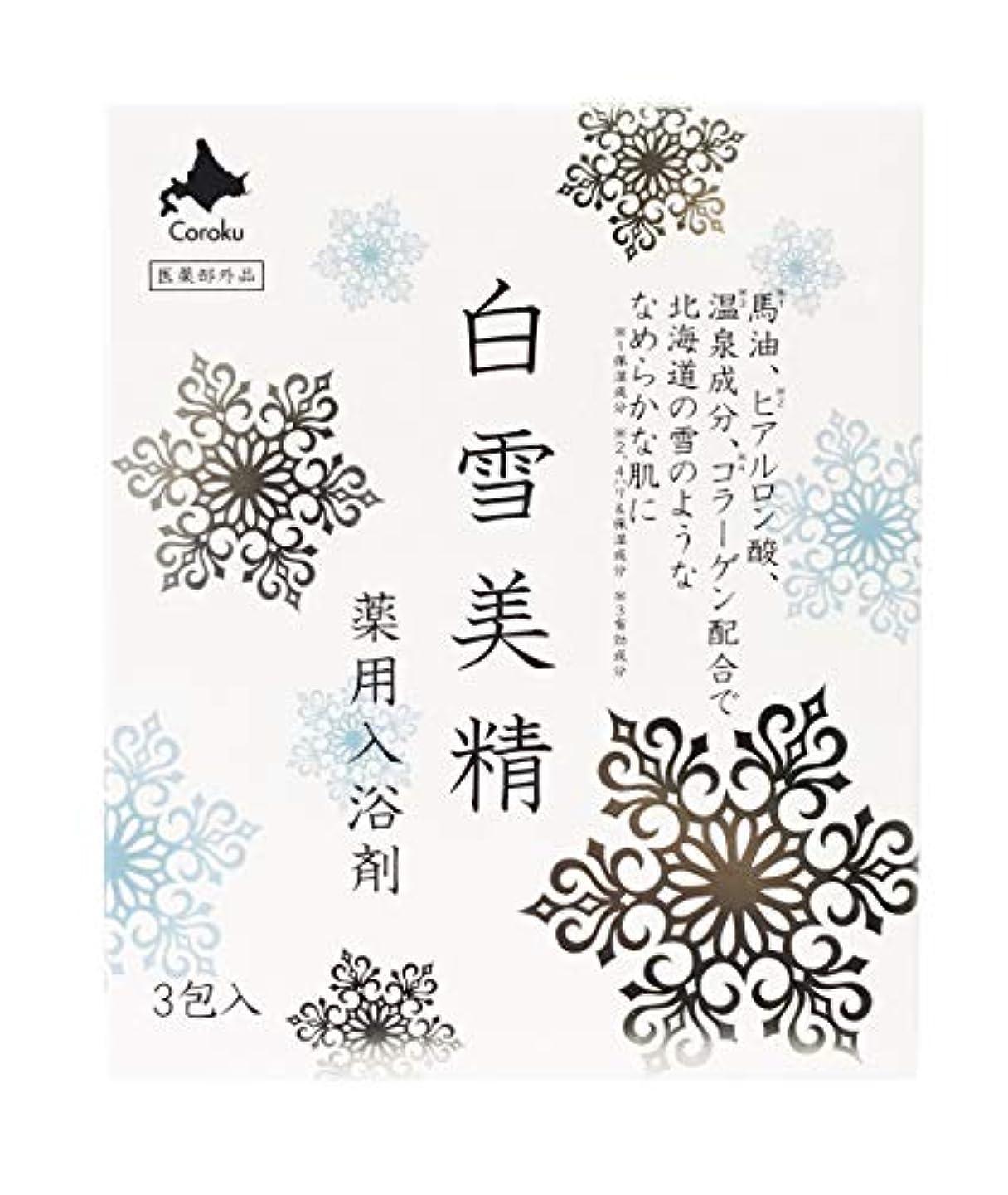 おびえた評価可能水銀の白雪美精 入浴剤 30g×3包