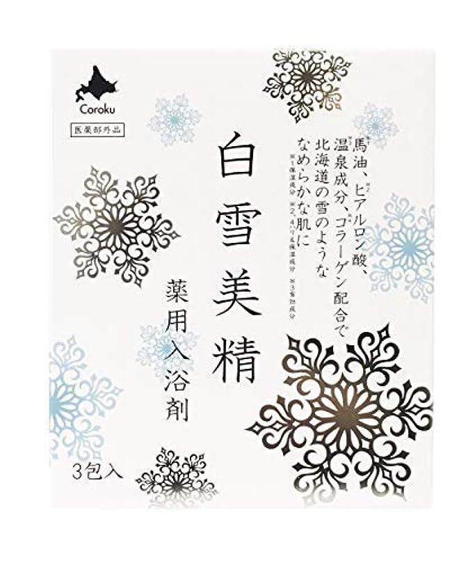 実験ある可決白雪美精 入浴剤 30g×3包