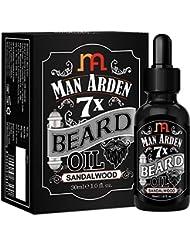Man Arden 7X Beard Oil 30ml (Sandalwood) - 7 Premium Oils Blend For Beard Growth & Nourishment