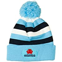 Canterbury Men's Waratahs Stripe Pompom Beanie, Waratahs Blue, 1SZE