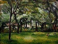 手描き-キャンバスの油絵 - Farm in Normandy Summer ポール・セザンヌ 芸術 作品 洋画 ウォールアートデコレーション -サイズ03