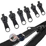 3#/5#/7# ナイロンファスナーセット 6pcs引き手 ファスナー 修理 取換 スライダー交換 ジッパー修理 服装やバッグのジッパー交換 修理キット 裁縫向き 手芸
