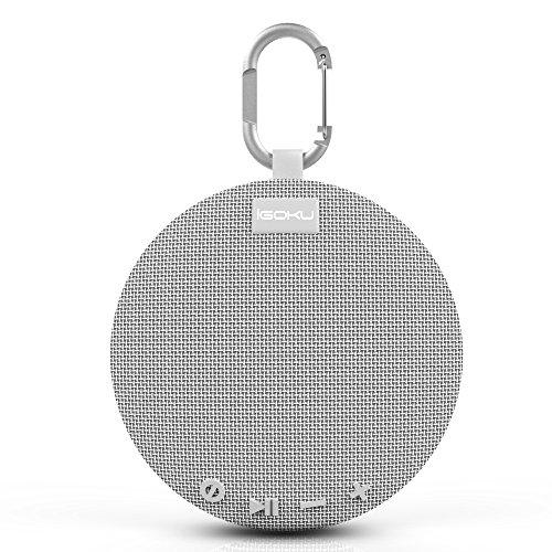 Bluetoothスピーカー、iGOKUポータブルブルートゥース4.1ワイヤレススピーカー、内蔵マイク、マイクロSDスロット、防水IPX5、ビーチ、ホーム、スポーツ用スピーカーiPad / iPhone / Samsung / HuaweiなどのBluetoothデバイス対応 日本語説明書付き (グレー)