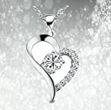 OptiMus オープンハートネックレス ハートネックレス 綺麗 プレゼント レディース 可愛い ジュエリー チェーン付き 記念日