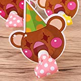Amosfun 10Pcs Kids Blow Outs Cute Cartoon Bear Noisemaker Blowouts Whistles for Kids Birthday Party Supplies