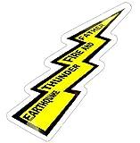 コトワザステッカー《地震、雷、火事、親爺/EARTHQUAKE THUNDER FIRE AND FATHER》防水加工