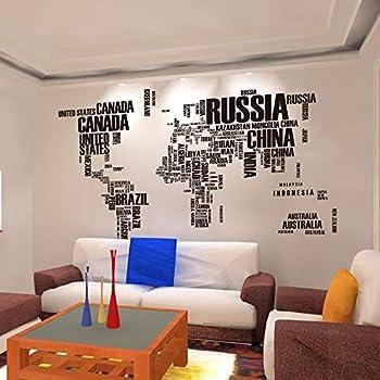 ウォールステッカー 世界地図 マップ アルファベット 英語 おしゃれ アート 北欧 インテリア ポスター ステッカー モダンアート シール式ステッカー 飾り ウォールデコ ウォールペーパー ウォール 装飾 M0275