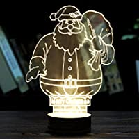 桜の雪 3D 立体視覚ライト クリスマスライト 個性 夜ランプ 雰囲気ランプ プレゼント (サンタクロース)