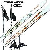 FISCHER フィッシャー クロスカントリー・スキー板 スポーティークラウン N45581/187cm ノーエッジ (ホワイト×シルバー/ビンディング無し) ポール145cm付き