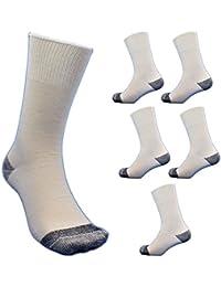 【845】LLサイズ純綿靴下 27~29cm 6組 爽やかな履き心地の日本製 つま先、カカトに補強糸 安全靴や作業用に 先丸