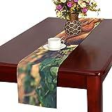 GGSXD テーブルランナー すばしこい リス クロス 食卓カバー 麻綿製 欧米 おしゃれ 16 Inch X 72 Inch (40cm X 182cm) キッチン ダイニング ホーム デコレーション モダン リビング 洗える