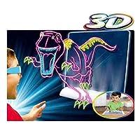 3D子供の描画ボード3Dマジックポータブルは、3歳以上のすべての子供のための幼児教育のおもちゃのためのボードを学ぶ磁気