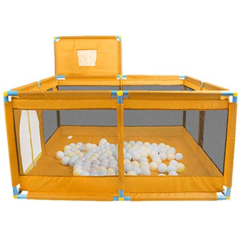 ベビーサークル ポータブルベビープレイヤー幼児ゲーム屋内児の安全フェンスキッズバスケットボールメッシュで遊び庭 (色 : Style-1)
