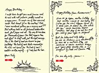 Quiplip Handwritten Yours Truly Birthday Cards 6-Pack (YT01026PCK) [並行輸入品]