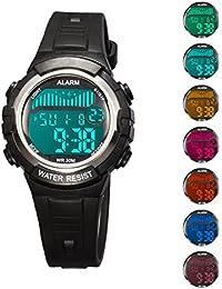 Misskt子供ウォッチアウトドアスポーツ子供男の子女の子腕時計子供のデジタルLED腕時計
